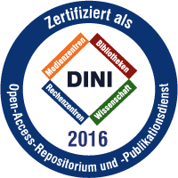 DINI Certificate 2016 for Open Access Repositories and Publishing Services